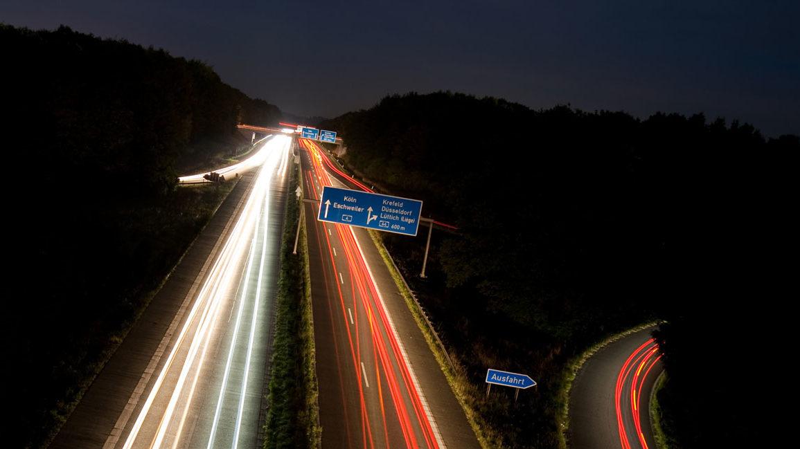 Straßen und Autobahnen in Deutschland.