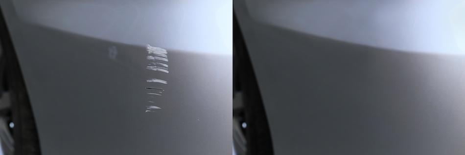 Vor dem Entfernen der Kratzer an der Karosserie des Fahrzeugs muss die Tiefe der Kratzer bestimmt werden