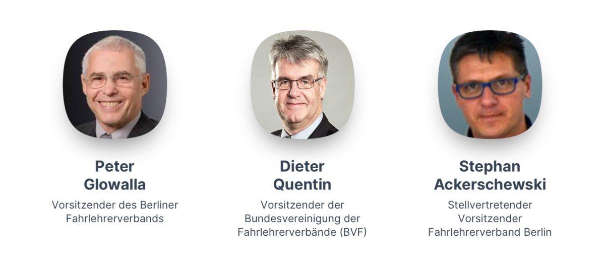 Peter Glowalla, Dieter Quentin und Stephan Ackerschewski
