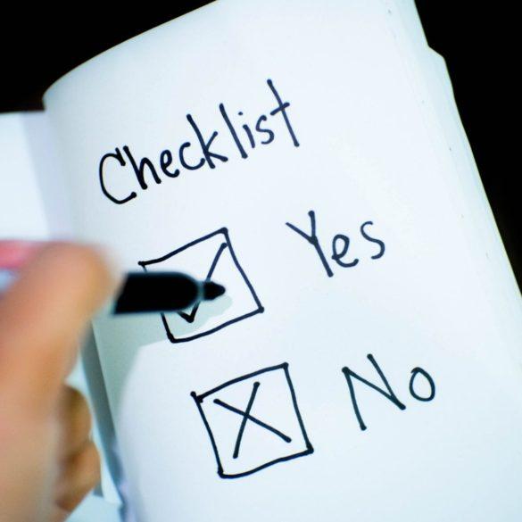 Checkliste für den Führerschein