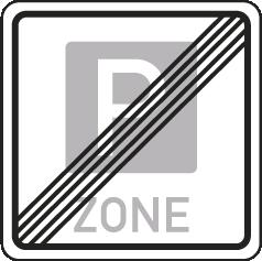 Ende der Parkraumbewirtschaftungszone