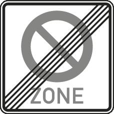 Ende der Parkverbotszone