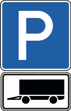 Parkplätze für gekennzeichnete Fahrzeuge