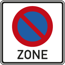 Parkverbotszone