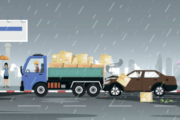 Wie man sich bei einem Unfall verhalten sollte